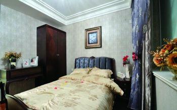 卧室灰色背景墙欧式风格装饰效果图
