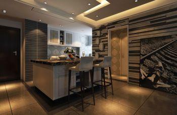 后现代风格110平米三居室房子装修效果图