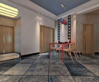 现代时尚韩式三居室家庭装修效果图
