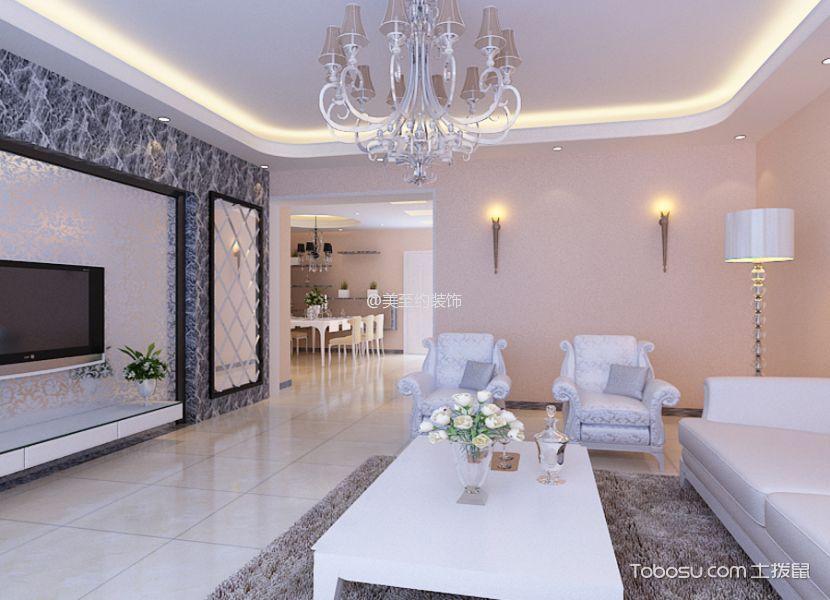 客厅 背景墙_简欧风格160平米三居室房子装修效果图