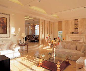 客厅隔断欧式风格装潢效果图