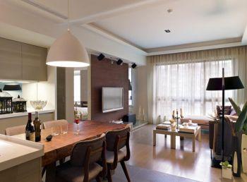 餐厅窗帘现代简约风格装潢效果图