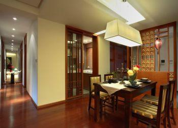 餐厅隔断现代中式风格装潢设计图片