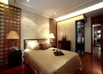 卧室背景墙现代中式风格装修效果图