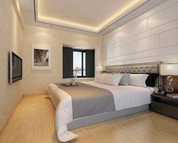 卧室背景墙现代简约风格装修设计图片