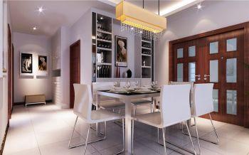 餐厅白色走廊现代风格装修设计图片