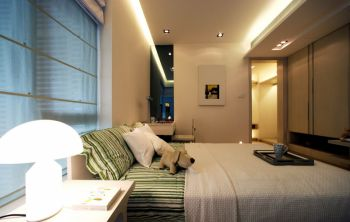 现代风格90平米二居室房子装修效果图