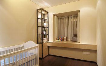 儿童房背景墙现代简约风格装潢效果图