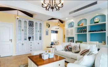 客厅背景墙地中海风格装潢效果图