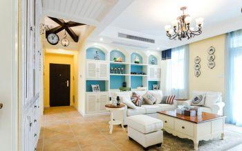 客厅黄色走廊地中海风格装修图片