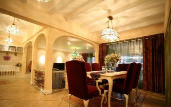 餐厅窗帘地中海风格装饰效果图