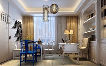 书房窗帘欧式风格装修效果图