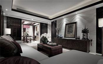 客厅背景墙现代中式风格装修设计图片