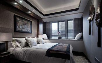 卧室背景墙现代中式风格装潢设计图片
