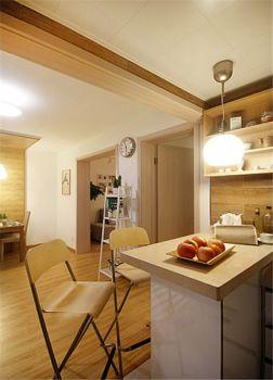 厨房黄色背景墙现代简约风格装饰效果图