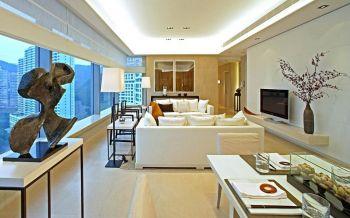 简中风格160平米三居室房子装修效果图