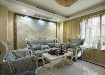 欧式风格90平米二居室房子装修案例图