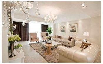 客厅窗帘现代欧式风格装潢设计图片