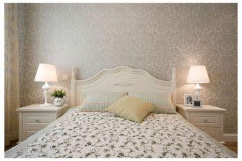 卧室米色背景墙现代欧式风格装修图片