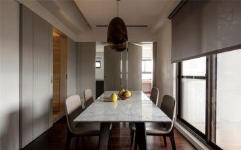 餐厅灰色背景墙现代简约风格效果图