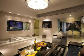 现代简约风格160平米二居室房子装修效果图