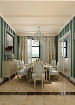 餐厅窗帘简欧风格装修效果图