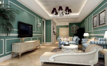 简欧风格110平米幸福之家套房装修效果图