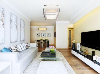 花果园B5户型现代韩式二居室装修效果图