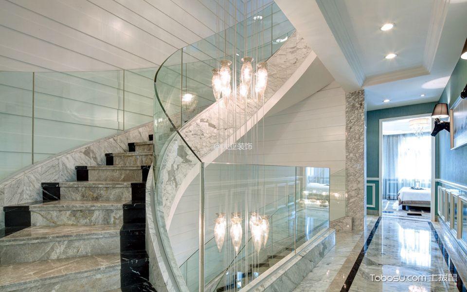 楼梯_新古典风格160平米别墅装修效果图