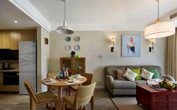混搭风格110平米三居室房子装修效果图