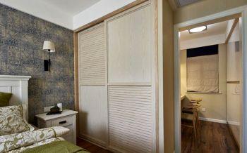 卧室灰色背景墙混搭风格装修效果图