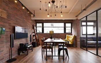 后现代风格90平米二居室房子装修效果图
