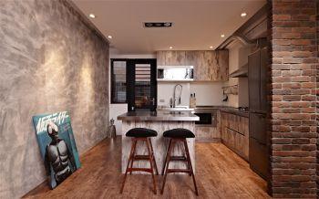厨房吧台后现代风格装修图片
