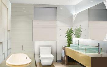 卫生间白色背景墙地中海风格装饰效果图