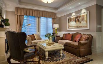 美式风格90平米二居室房子装修效果图