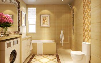 卫生间黄色背景墙欧式风格效果图