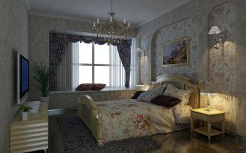 卧室飘窗欧式田园风格装修效果图