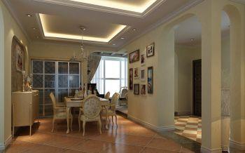 欧式田园风格110平米三居室房子装修效果图