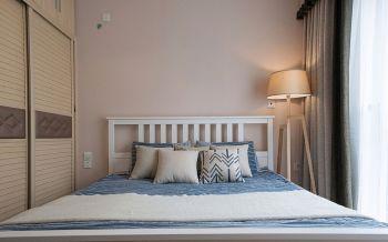 卧室粉色背景墙混搭风格装饰设计图片