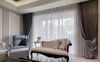 客厅窗帘混搭风格装潢效果图