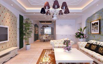欧式田园风格90平米二居室房子装修效果图
