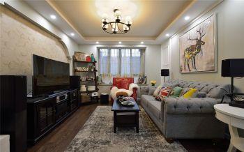 客厅飘窗地中海风格装潢设计图片