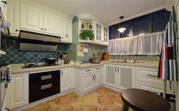 厨房白色背景墙地中海风格装饰效果图