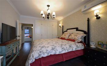 卧室白色背景墙地中海风格装饰图片