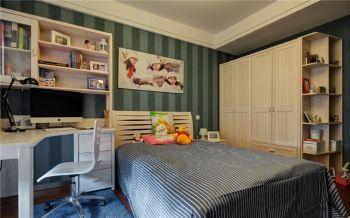 儿童房绿色照片墙现代简约风格装修图片
