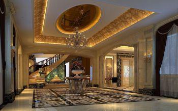 玄关黄色走廊欧式风格装饰设计图片