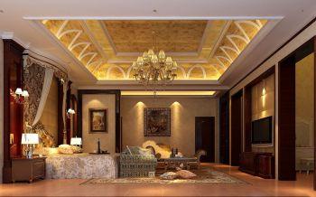 卧室黄色吊顶欧式风格装潢设计图片