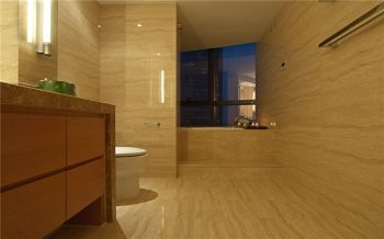 卫生间咖啡色背景墙现代风格装修效果图