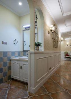 卫生间白色隔断欧式风格装饰图片