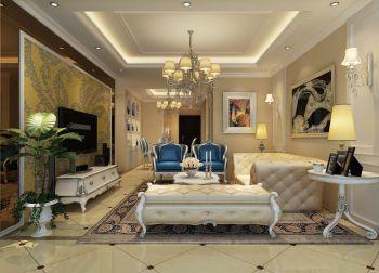 欧式风格110平米大户型房子装修效果图